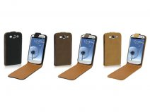 Rough Leather Flip Case voor Samsung Galaxy S3 (i9300)
