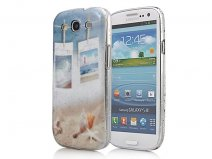 Seaside Transparant White-Only Case voor Samsung Galaxy S3 (i9300)