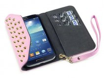 Covert Studded Pastel Trifold Wallet Case Samsung Galaxy S4
