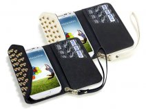 Covert Studded Trifold Wallet Case Hoesje Samsung Galaxy S4 (i9500)