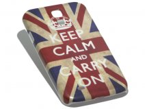 Vintage 'Keep Calm and Carry On' Case voor Samsung Galaxy S4 (i9500)