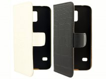 Croco Book Case Hoesje voor Samsung Galaxy S5