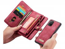 CaseMe 2in1 Wallet Ritsvak Case Rood - Samsung Galaxy A51 Hoesje