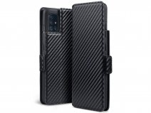CaseBoutique Slim Bookcase Carbon - Samsung Galaxy A51 hoesje