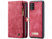 CaseMe 2in1 Wallet Ritsvak Case Rood - Samsung Galaxy A71 Hoesje