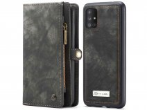 CaseMe 2in1 Wallet Ritsvak Case Zwart - Samsung Galaxy A71 Hoesje
