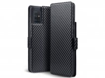 CaseBoutique Slim Bookcase Carbon - Samsung Galaxy A71 hoesje