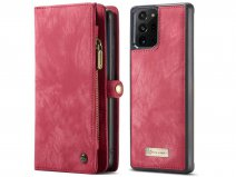 CaseMe 2in1 Wallet Ritsvak Case Rood - Galaxy Note 20 Ultra Hoesje