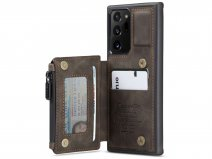 CaseMe Backcase Wallet Bruin - Samsung Galaxy Note 20 Ultra hoesje