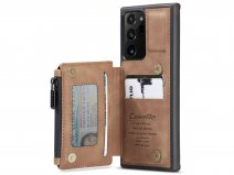 CaseMe Backcase Wallet Tan - Samsung Galaxy Note 20 Ultra hoesje