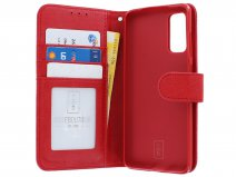 Book Case Deluxe Rood - Samsung Galaxy S20 hoesje
