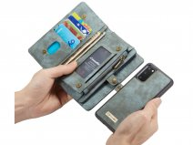 CaseMe 2in1 Wallet Ritsvak Case Blauw - Samsung Galaxy S20 Hoesje