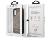 Guess 4G Monogram Case Bruin - Samsung Galaxy S20 hoesje