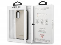 Guess Iridescent Case Goud - Samsung Galaxy S20 hoesje