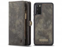 CaseMe 2in1 Wallet Ritsvak Case Zwart - Samsung Galaxy S20+ Hoesje