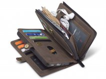 CaseMe Multi Wallet Ritsvak Case Bruin - Samsung Galaxy S20 Plus Hoesje