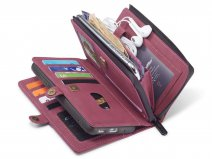 CaseMe Multi Wallet Ritsvak Case Rood - Samsung Galaxy S20 Plus Hoesje