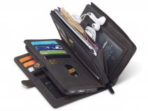 CaseMe Multi Wallet Ritsvak Case Zwart - Samsung Galaxy S20 Plus Hoesje