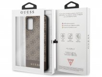 Guess 4G Monogram Case Bruin - Samsung Galaxy S20+ hoesje