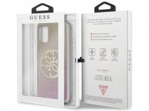 Guess 4G Glitter TPU Case Gold Pink - Samsung Galaxy S20+ hoesje