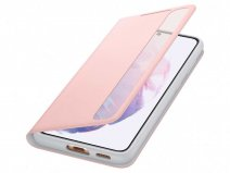 Samsung Galaxy S21 Smart Clear View Cover Roze (EF-ZG991CP)