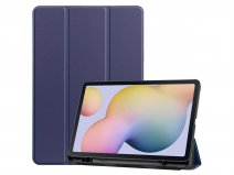 Smart Pen Bookcase Blauw - Samsung Galaxy Tab S7 Hoesje
