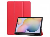 Smart Pen Bookcase Rood - Samsung Galaxy Tab S7 Hoesje