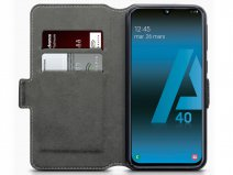 CaseBoutique Slim Wallet Case Zwart - Galaxy A40 hoesje
