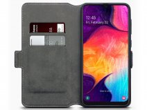 CaseBoutique Slim Wallet Case Zwart - Galaxy A50 hoesje