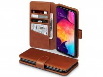 CaseBoutique Wallet Case Cognac Leer - Galaxy A50 hoesje