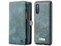 CaseMe 2in1 Wallet Ritsvak Case Blauw - Samsung Galaxy A50 Hoesje