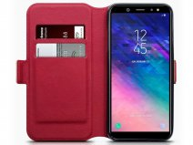 CaseBoutique Slim Rood Leer - Galaxy A6 2018 hoesje