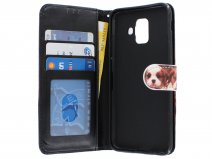 Puppy Dog Bookcase - Samsung Galaxy A6 2018 hoesje