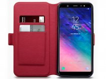 CaseBoutique Slim Rood Leer - Galaxy A6+ 2018 hoesje