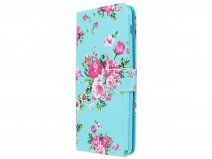 Flower Bookcase Wallet - Samsung Galaxy A6+ 2018 hoesje
