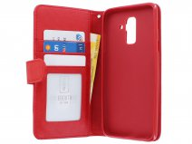 Zipper Wallet Case Rood - Samsung Galaxy A6+ hoesje