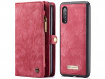 CaseMe 2in1 Wallet Ritsvak Case Rood - Samsung Galaxy A70 Hoesje