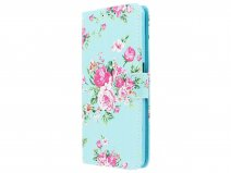 Book Case Bloemenprint - Samsung Galaxy A7 2018 hoesje