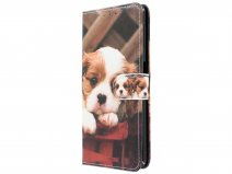 Book Case Puppy Dog - Samsung Galaxy A7 2018 hoesje