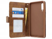 Zipper Book Case Bruin - Samsung Galaxy A7 2018 hoesje