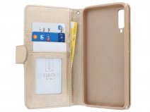 Zipper Book Case Goud - Samsung Galaxy A7 2018 hoesje