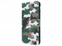 Camouflage Bookcase - Samsung Galaxy A9 2018 hoesje