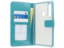 Book Case Turquoise - Samsung Galaxy A9 2018 hoesje