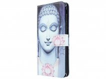 Book Case Boeddha Lily - Samsung Galaxy J4 Plus hoesje
