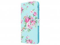 Book Case Bloemenprint - Samsung Galaxy J4 Plus hoesje