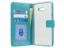 Book Case Turquoise - Samsung Galaxy J4 Plus hoesje