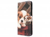 Book Case Puppy Dog - Samsung Galaxy J4 Plus hoesje
