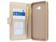 Zipper Book Case Goud - Samsung Galaxy J4 Plus hoesje