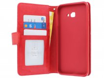 Zipper Book Case Rood - Samsung Galaxy J4 Plus hoesje