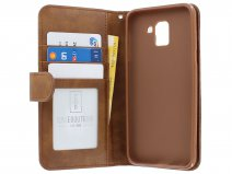 Zipper Book Case Bruin - Samsung Galaxy J6 2018 hoesje